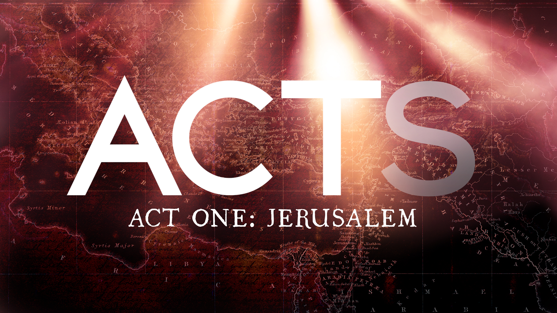 The Story Before the Beginning of the Story: Genesis - Acts 1