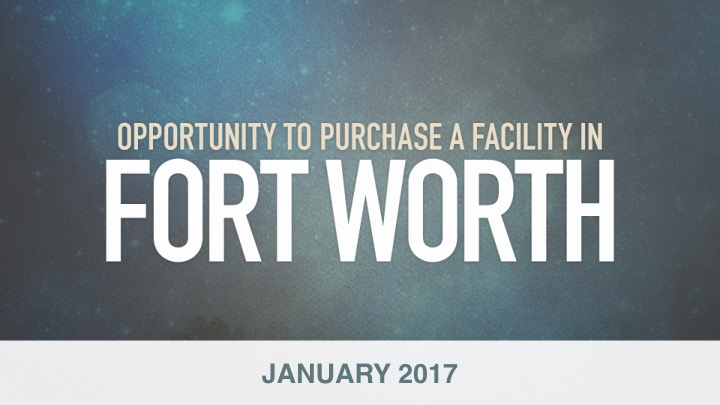 Fort Worth's Opportunity... A Day We Can't Wait to See