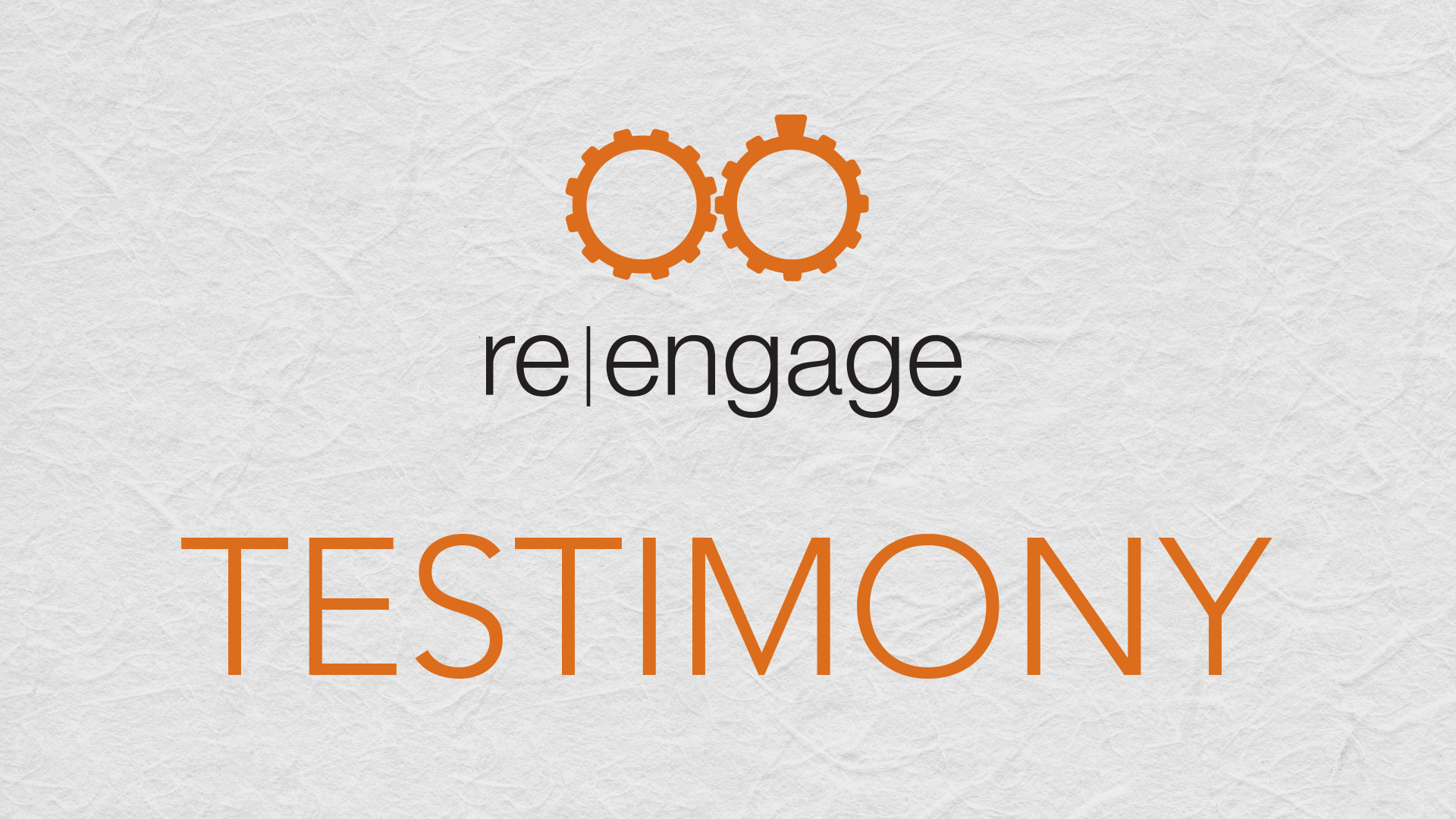 Simon and Katrina Saugier - re|engage Testimony