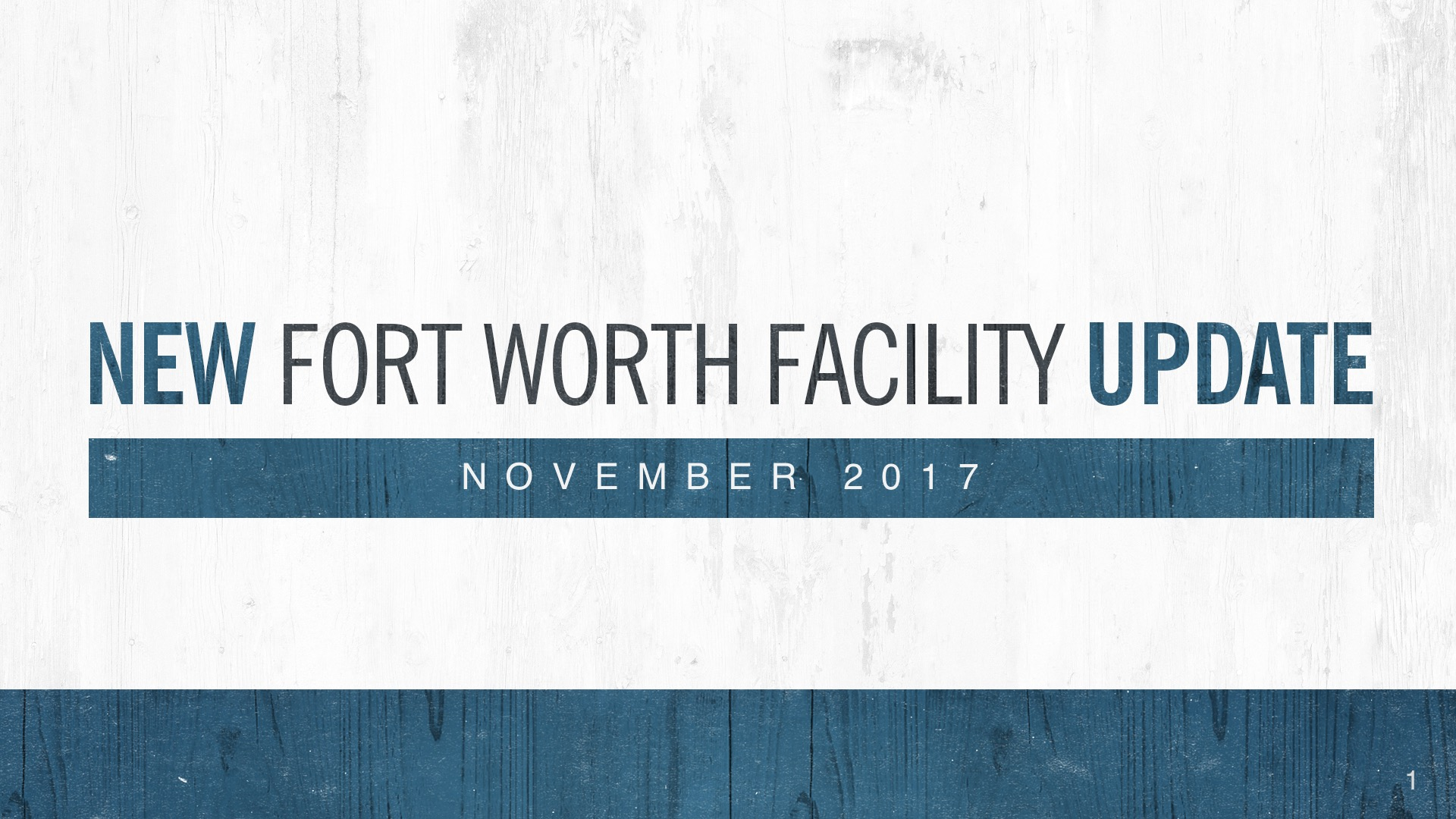 An Update on the Mission in Fort Worth