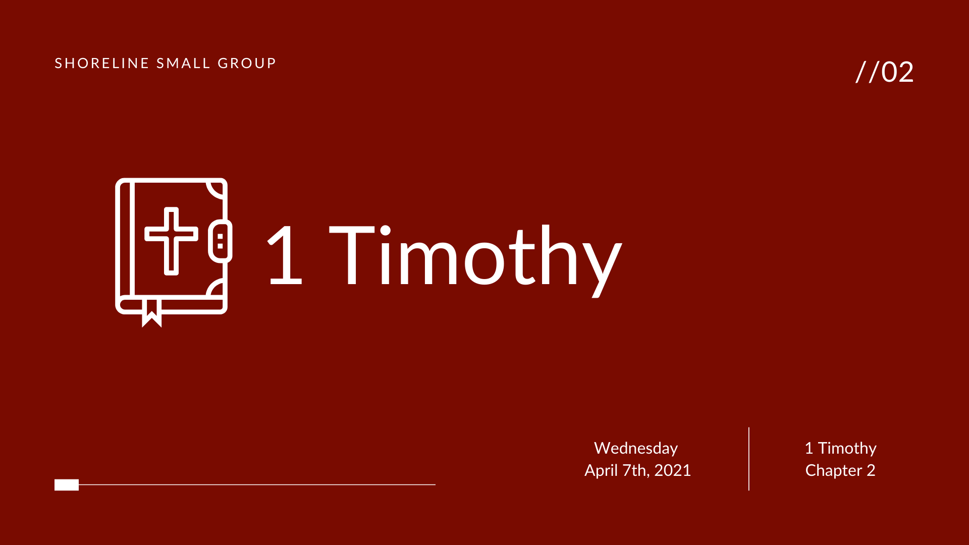 Spring 2021 Small Group – 1 Timothy 5